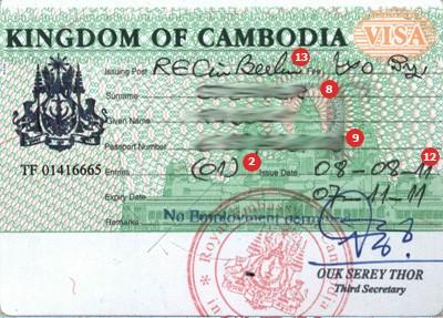 Cambodja visum